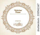 filigree vector frame in... | Shutterstock .eps vector #233561167