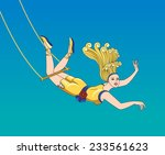 gymnast girl on trapeze   Shutterstock .eps vector #233561623