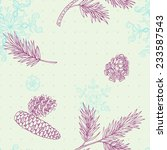 pattern with snowflakes and ... | Shutterstock .eps vector #233587543