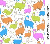 seamless vector pattern with... | Shutterstock .eps vector #233593093