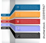 vector abstract step by step... | Shutterstock .eps vector #233595967