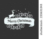 vector merry christmas... | Shutterstock .eps vector #233631343