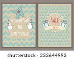 christmas greeting cards.... | Shutterstock .eps vector #233644993