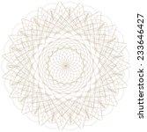 vector guilloche rosette... | Shutterstock .eps vector #233646427