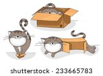 cute and funny cartoon cat in... | Shutterstock .eps vector #233665783