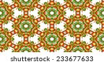 seamless christmas pattern with ... | Shutterstock .eps vector #233677633