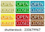 set of signs open and closed.... | Shutterstock .eps vector #233679967