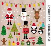 christmas lights and design... | Shutterstock .eps vector #233688607