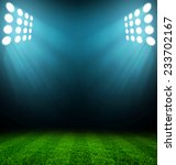 stadium lights at night and... | Shutterstock . vector #233702167