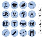 epidemic icons set   Shutterstock .eps vector #233716747