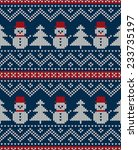 winter holiday seamless knitted ... | Shutterstock .eps vector #233735197