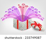 opened realistic gift box with... | Shutterstock .eps vector #233749087