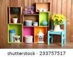 Beautiful Colorful Shelves Wit...