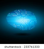 circuit board vector background ... | Shutterstock .eps vector #233761333