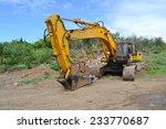 demolition machine on site | Shutterstock . vector #233770687
