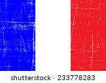 grungy flag of france | Shutterstock .eps vector #233778283