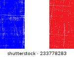 grungy flag of france | Shutterstock .eps vector #233778283