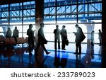silhouettes of business people... | Shutterstock . vector #233789023