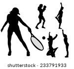vector silhouettes of different ... | Shutterstock .eps vector #233791933