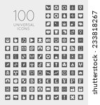 set of 100 universal square... | Shutterstock .eps vector #233818267