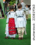 kids in romanian traditional... | Shutterstock . vector #233819563