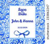 vector watercolor invitation... | Shutterstock .eps vector #233862247