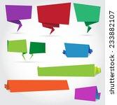 colorful paper speech bubbles... | Shutterstock .eps vector #233882107