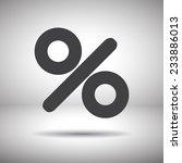 percent sign vector icon   Shutterstock .eps vector #233886013