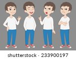 cartoon style caucasian boy in... | Shutterstock .eps vector #233900197