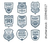 rugby emblems in flat style | Shutterstock .eps vector #233940517