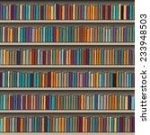 background of library book shelf | Shutterstock .eps vector #233948503