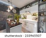kitchen interior | Shutterstock . vector #233965507