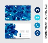 oil painted blue business card... | Shutterstock .eps vector #233987563