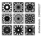 arabic square ornament set.... | Shutterstock .eps vector #234005227