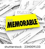 be memorable words on a unique  ... | Shutterstock . vector #234009133