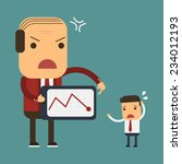 big boss is angry to his worker ... | Shutterstock .eps vector #234012193