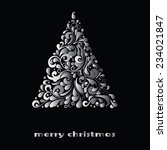 christmas greeting card. vector ... | Shutterstock .eps vector #234021847