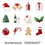 christmas icons | Shutterstock .eps vector #234036427