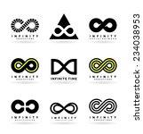 infinity symbols  2  | Shutterstock .eps vector #234038953