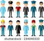 occupation avatars in colorful... | Shutterstock .eps vector #234040333
