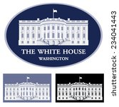 white house   detailed vector... | Shutterstock .eps vector #234041443