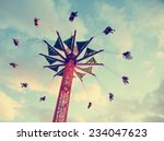 a fair ride shot with a long... | Shutterstock . vector #234047623
