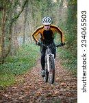cyclist on a mountain bike... | Shutterstock . vector #234065503