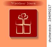 vector illustration of gift box  | Shutterstock .eps vector #234090217