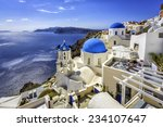 Santorini Blue Dome Churches ...