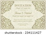 antique baroque invitation ... | Shutterstock .eps vector #234111427