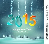 happy new year 2015 and... | Shutterstock .eps vector #234114793