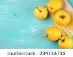 Yellow Golden Delicious Apples...