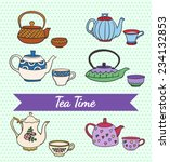 vector set of cute colorful... | Shutterstock .eps vector #234132853
