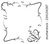 fame line drawing design back... | Shutterstock .eps vector #234134287
